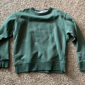 Champion long sleeve dark green large men's